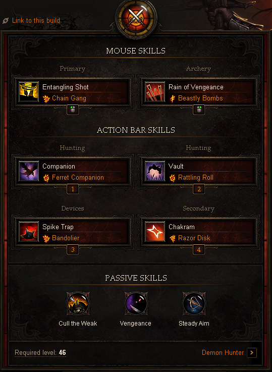 Demon Hunter Farming Build