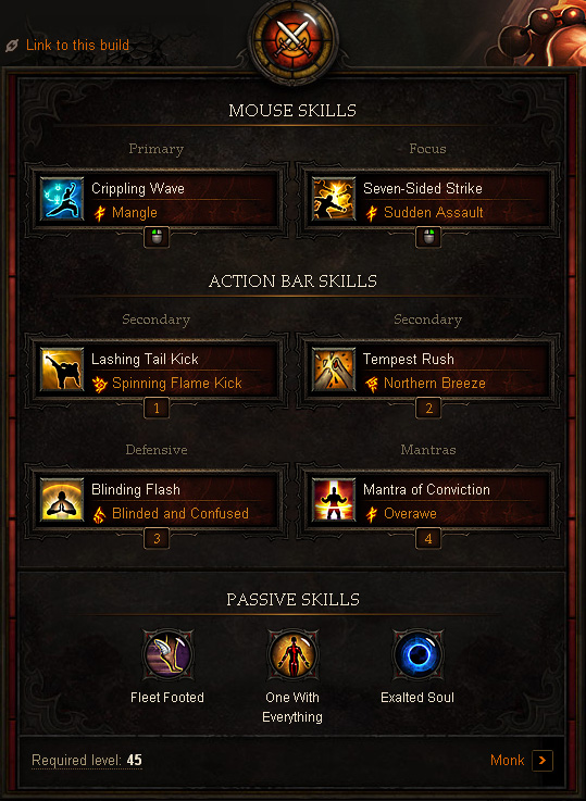 Monk Farming Build